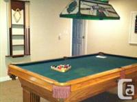 A Connelly Pool Table (American made) with accessories
