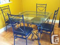 I have a 5-piece dining established available for sale.