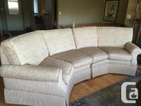 Custom conversation style sofa from Norwalk Furniture