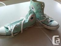 Converse All Star junior light green. Size girls 6.5,