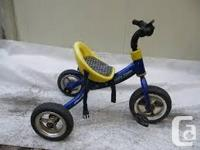 Parents can push trike like a stroller. Quality metal