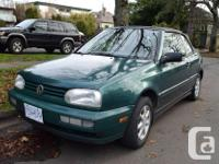 Make Volkswagen Model Cabrio Year 1997 Colour green