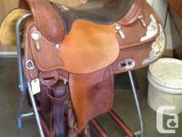 "16"" Billy Cook western show saddle. Basket weave"