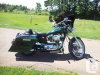 2002 totally customized 1200 Sporster bagger. 42000