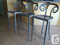 We have three metal chairs that are just right for a