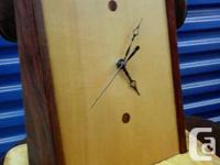 selling a awesome vintage teak clock.angular