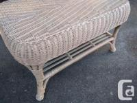 Solid wicker bench. Great as a coffee table, perhaps on