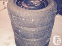 I have 4 winter tires for sale. They come complete with