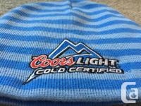Coors Light WINTER BEANIE SKI HAT SIZE: One Size Fits