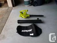 This is SunJoe model iONBV. 40 Volt, 200 mph, 3 in 1,