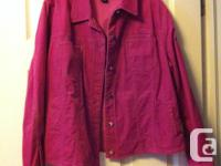 Pink cable jacket (jean coat style) by Jones New york