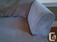 Gently used corduroy sectional. Room for everyone on