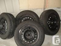 4 Goodyear Nordic Snow Tires 195/65/15 on 09 COROLLA