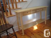 New. Lovely, customizeded, pine sofa/hall table with