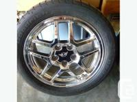 Set of 4 corvette C5 Z06 rims and tires in excellent for sale  British Columbia