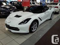 2014 Corvette Stingray with 1LT package- white with red