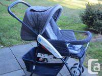 Stroller can fully recline - or be in full upright