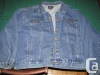 Guy's XL Jean Coat, Perfect disorder, used perhaps one