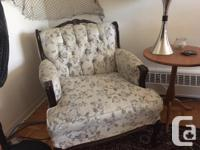 Worn but comfortable and sturdy vintage couch and