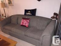 Bauhaus Couch and Love Seat - BlueGrey, good