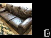 From Ashley Furniture. Well maintained genuine leather