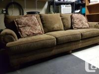 Couch plus chair and a half, couch is 8 feet, chair is