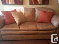 Awesome genuine leather sofa for sale. In great