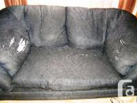 Couch is 8' L x 3' 3/4 W & Loveseat is almost 6' L x 3'
