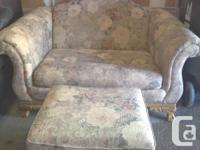 COUCH & OTTOMAN - $75.00  LEATHER COUCH - $75.00  BOTH
