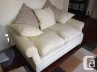 2 cream colored couches for sale, very good condition,