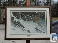 "FRAMED limited edition print #5342/11857, size 411/2"" x"