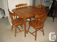 STILL AVAILABLE  This five piece dining room set is in