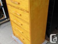 THIS ALL WOOD CHEST IS 30 INCHES WIDE, 16 INCHES DEEP
