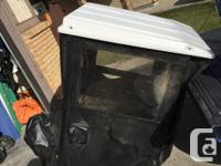 Roof for rideing mower/snoblower....like new barely