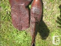 I have 3 pairs of good Leather Ladies size 6 cowboy