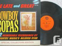 Cowboy Copas 1964 LP The Late and Great Cowboy Copas