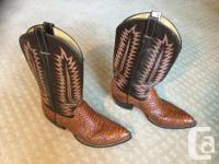 """""""Cowboy Town"""" made in USA, men's western boot. All"""
