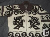 Cowichan Vest , Opened vest Whale in front and