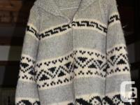 Hand made Cowichan sweater in excellent condition.