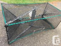Two collapsible crab traps - 25$ each Collapsible prawn