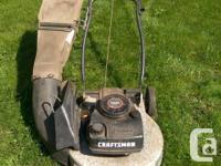 "Craftsman lawnmower 20"" blade 3.5 HP engine Adjustable"
