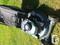 "Craftsman 21"" , 6 HP mulcher mower with bag great mower"