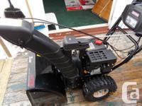 """Craftsman 24"""" Snow blower 208cc Engine Wheel Steering"""
