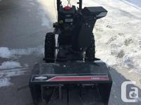 """Craftsman 26"""" Brigg & Stratton 250 CC engine snowblower"""