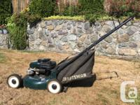 "Craftsman 5.5 HP gas lawn mower; mulching, 21"" cutting"