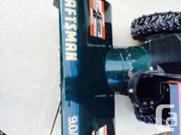 Tecumseh 9 HP engine. Convenient 24 inch residential