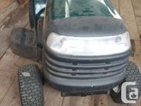 Craftsman LT 1000 mower & tilt trailer 18HP Comes with