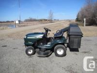 Runs very well, comes with 2 bagger and spare blades