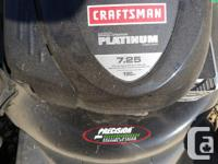craftsman PLATINUM 7.25 190 cc Never had any problems
