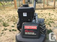 8 Horse power/208cc Craftsman rear tine dual rotating